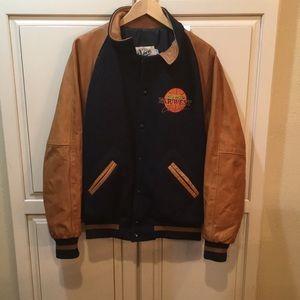 Dehen 1920 varsity jacket wool leather L